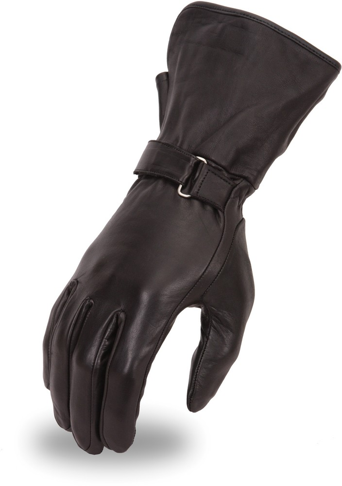 Lightweight Lined Naked Leather Gauntlet Glove