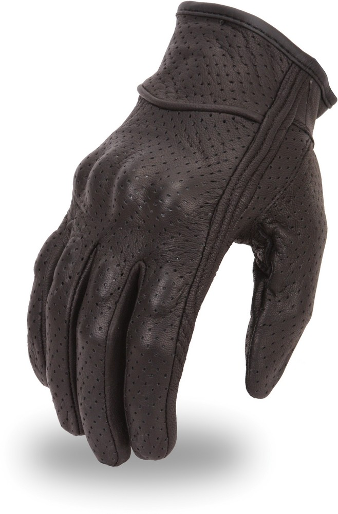 Lightweight Fully Perforated Goatskin Glove with Rubberized Knuckle Protection