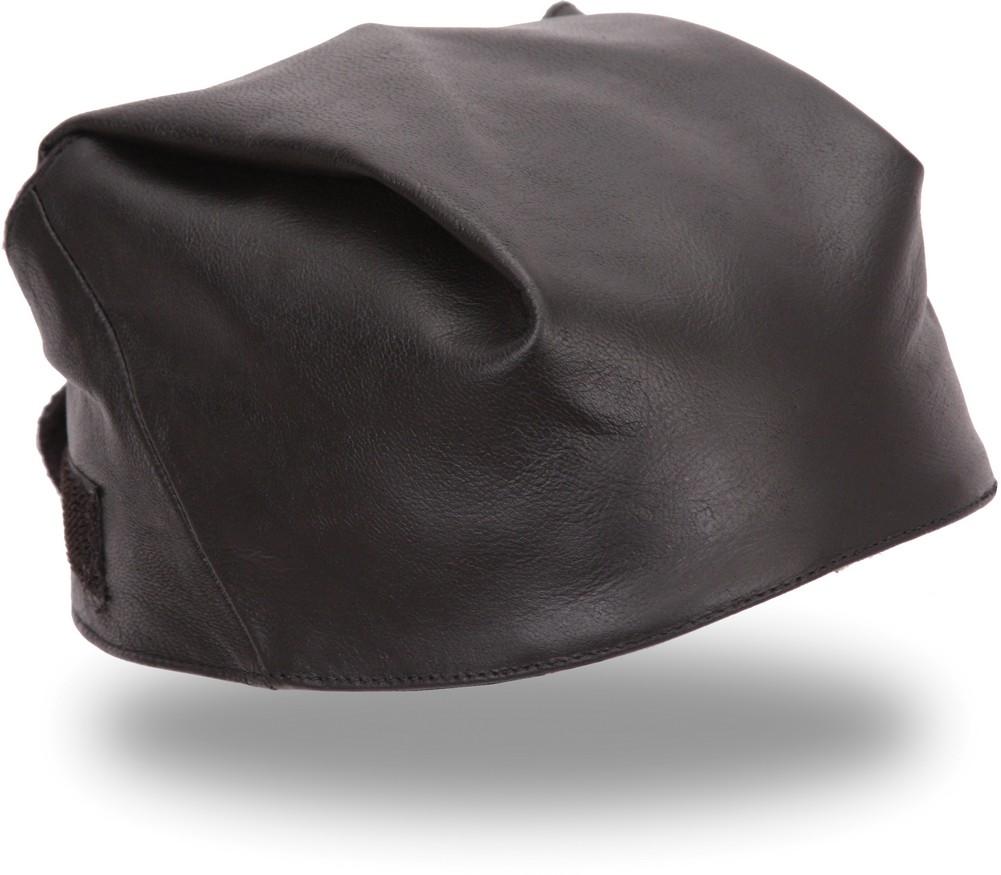 Fleece Lined Leather Bandana with Velcro Tabs on Back