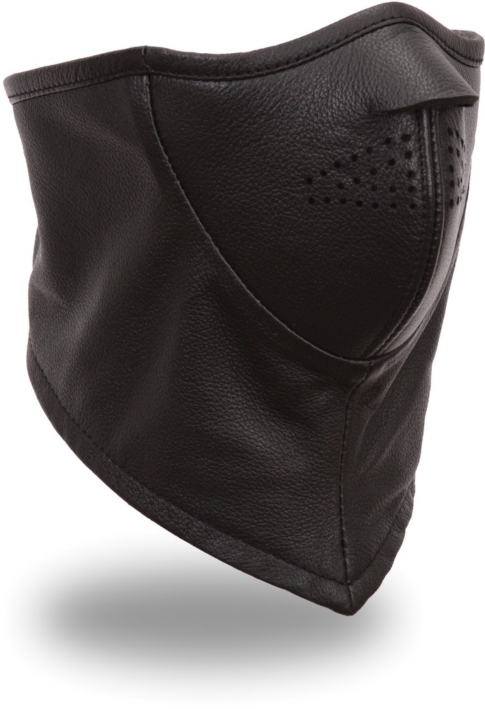 Leather Face Mask with Fleece Lining