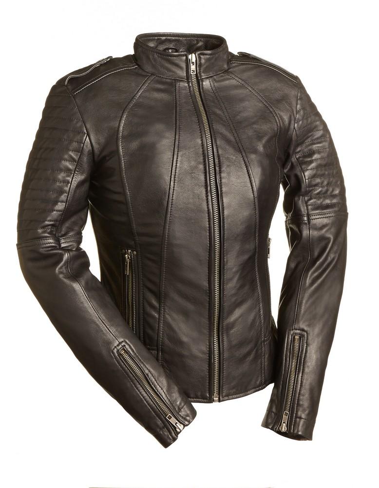 The Sexy Biker: Euro-Style Motorcycle Jacket - Black