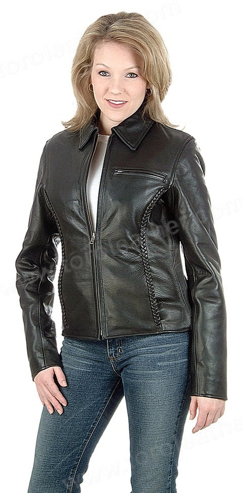 The Contessa: Clean Cut Naked Cowhide Cruiser Jacket