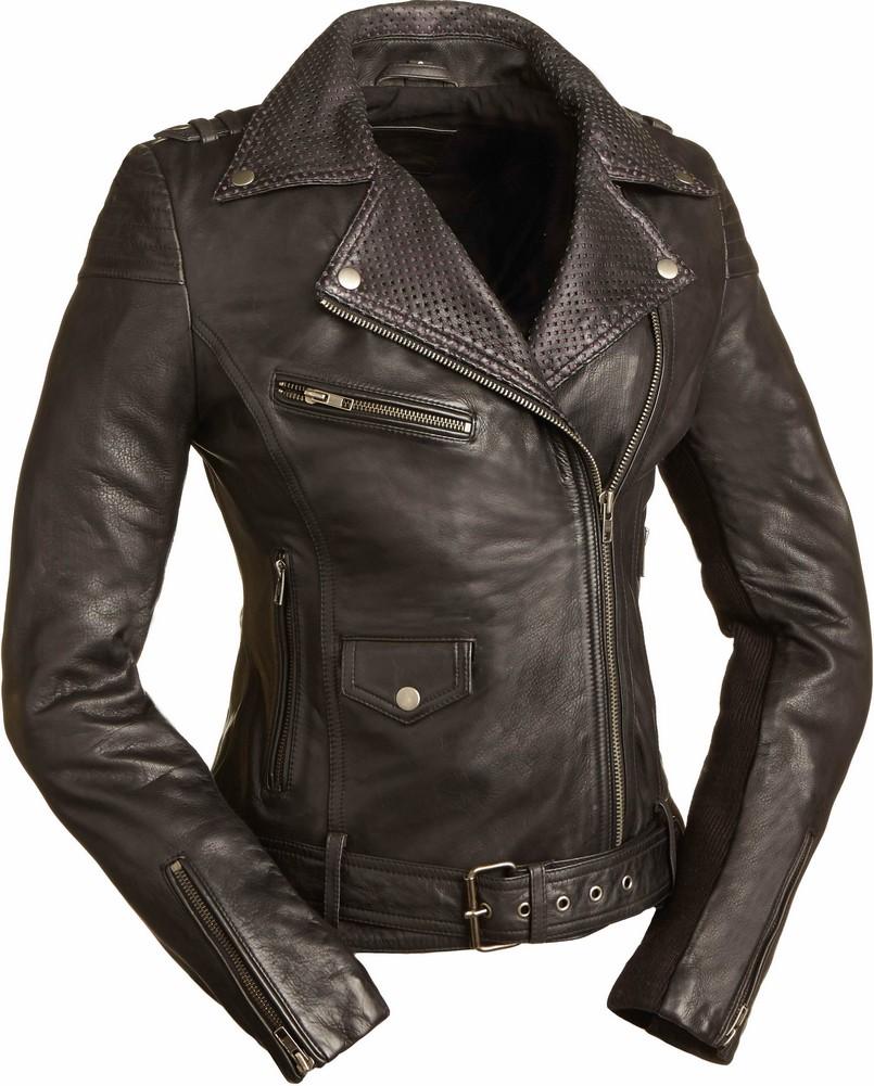 The Iris: Lightweight Leather Cruiser Jacket