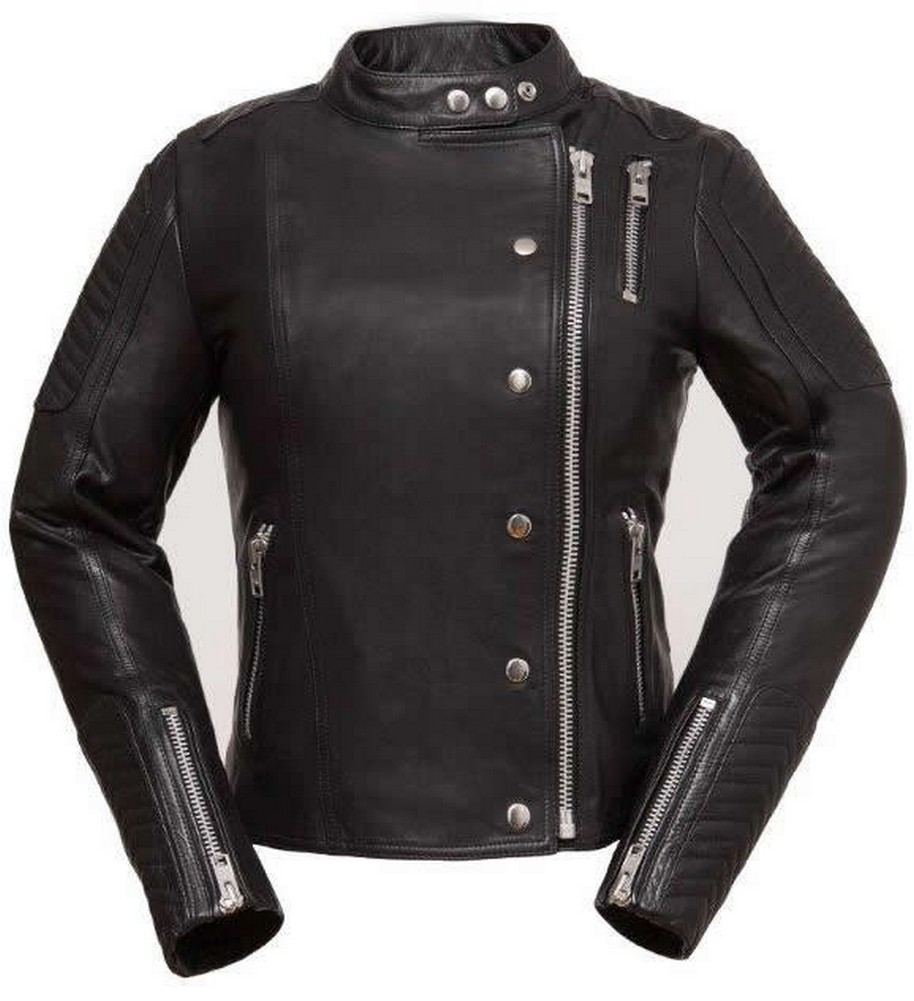The Warrior Princess: Stylish Lightweight Cowhide Scooter Jacket