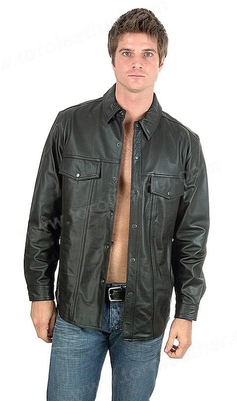 The Milestone: Lightweight Lambskin Leather Shirt