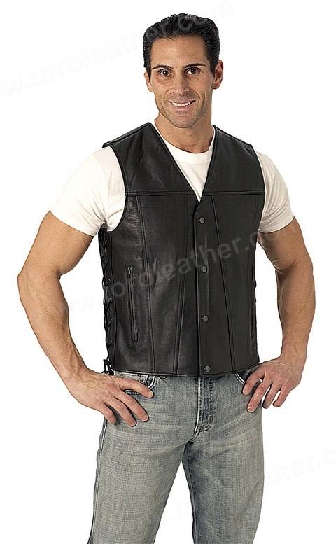 The Gambler: Single Panel Back Sidelaced Vest