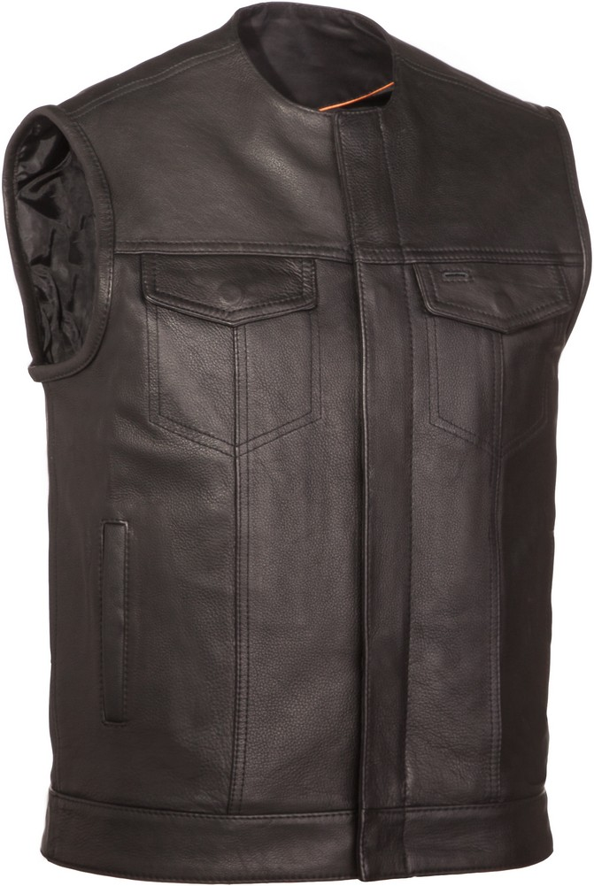The No Rival: Naked Cowhide Single Panel Back Concealment Vest