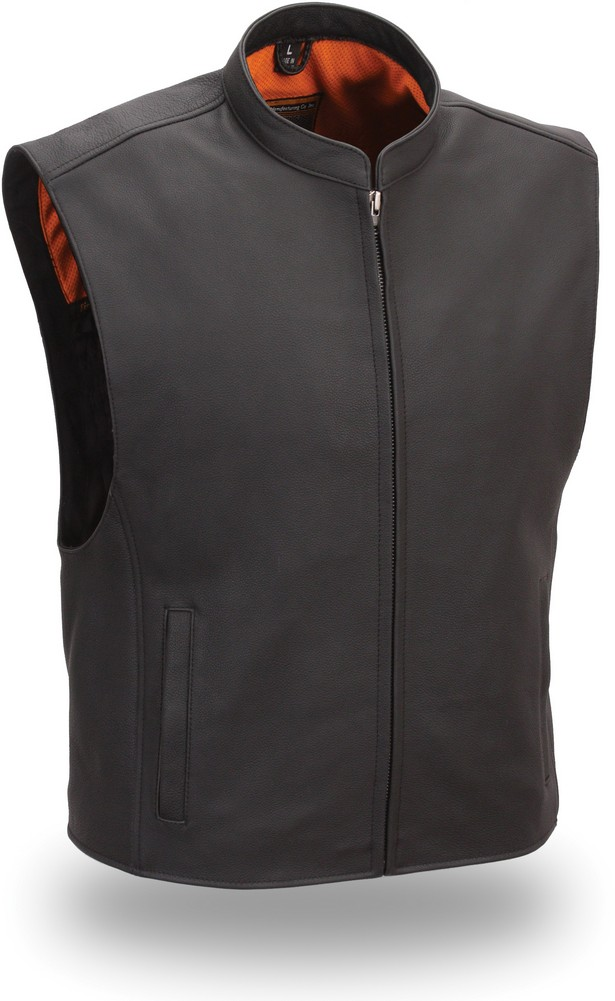 The Club House: Single Panel Back Zip-Front Club Patch Vest