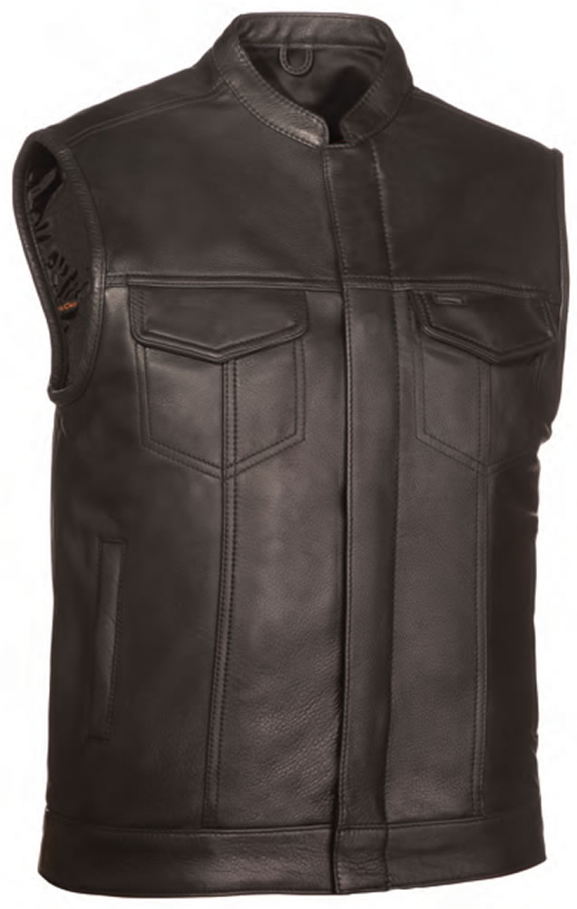 The Blaster: Single Panel Back Concealment Vest with Snap and Zipper Front Closure
