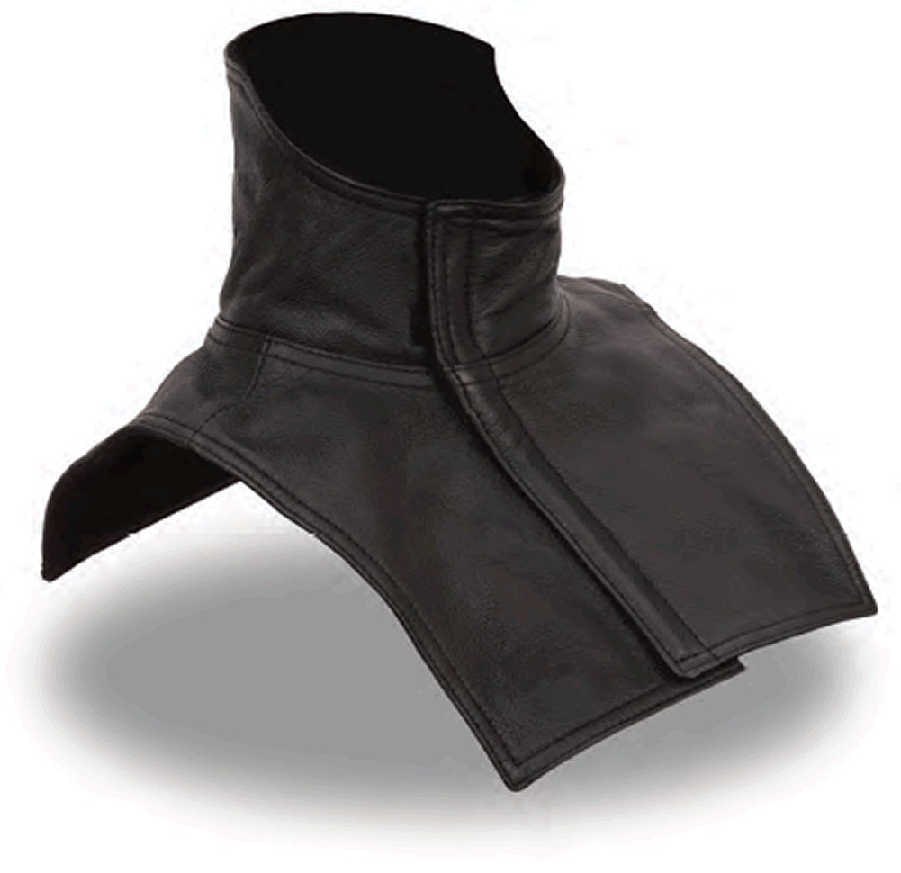 Leather Fleece-Lined Neck and Chest Warmer