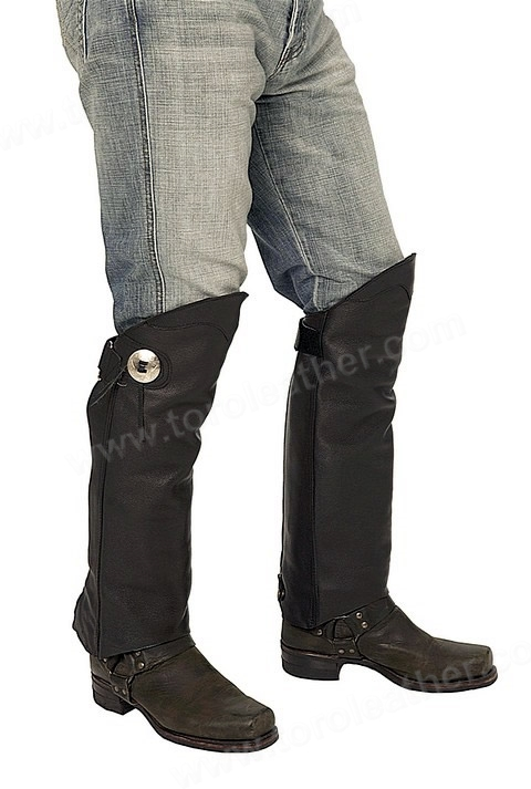 The Asphalt: Unisex Short Chaps with Zippered Entry