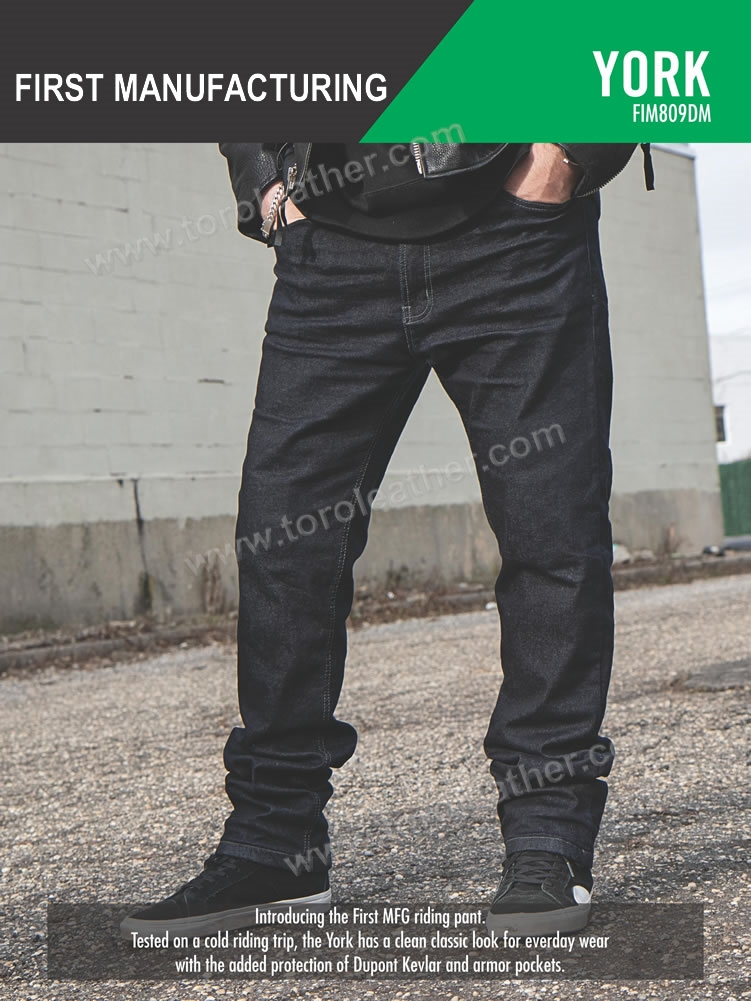 First Manufacturing York Motorcycle Riding Jeans