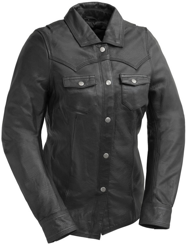 First Manufacturing ONYX - Women's Naked Cowhide Leather Riding Shirt