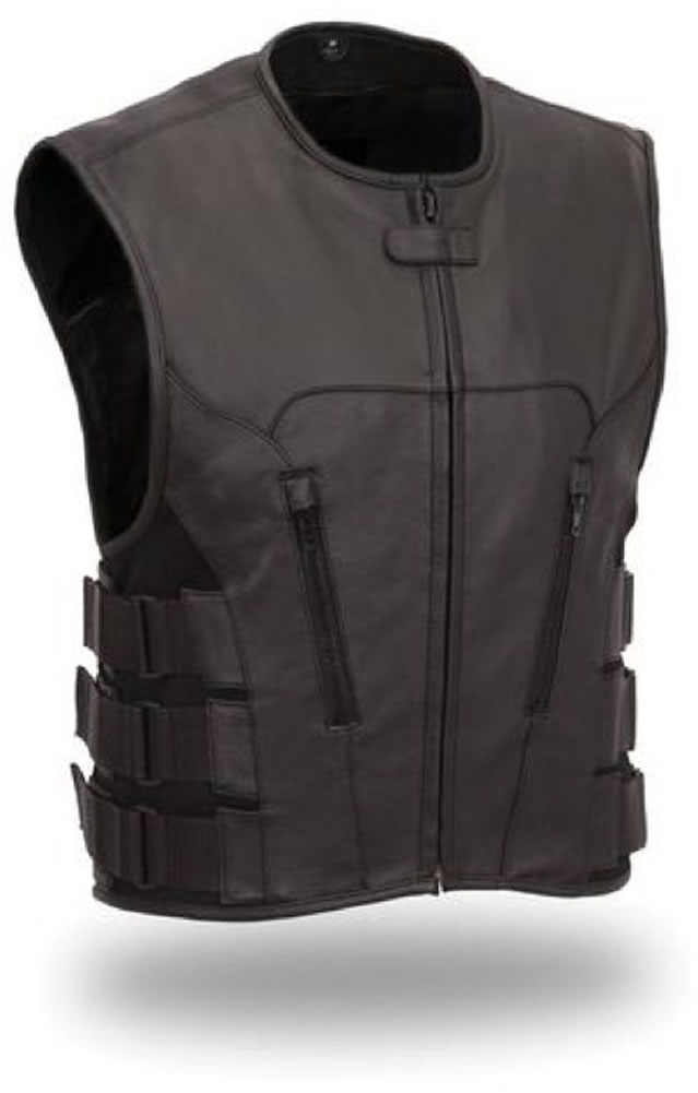 First Manufacturing The Commando: Updated SWAT Team Style LEATHER Vest