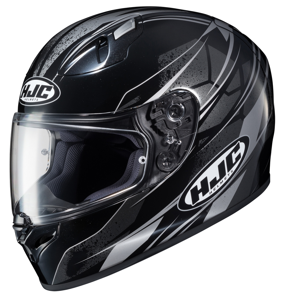 hjc fg 17 toba full face motorcycle helmet black silver. Black Bedroom Furniture Sets. Home Design Ideas