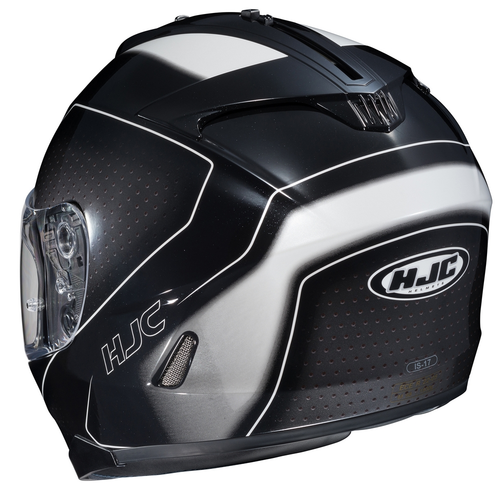 hjc is 17 arcus full face motorcycle helmet black silver. Black Bedroom Furniture Sets. Home Design Ideas