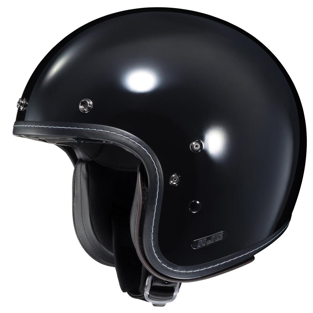 HJC IS-5 Open-Face Motorcycle Helmet - Black