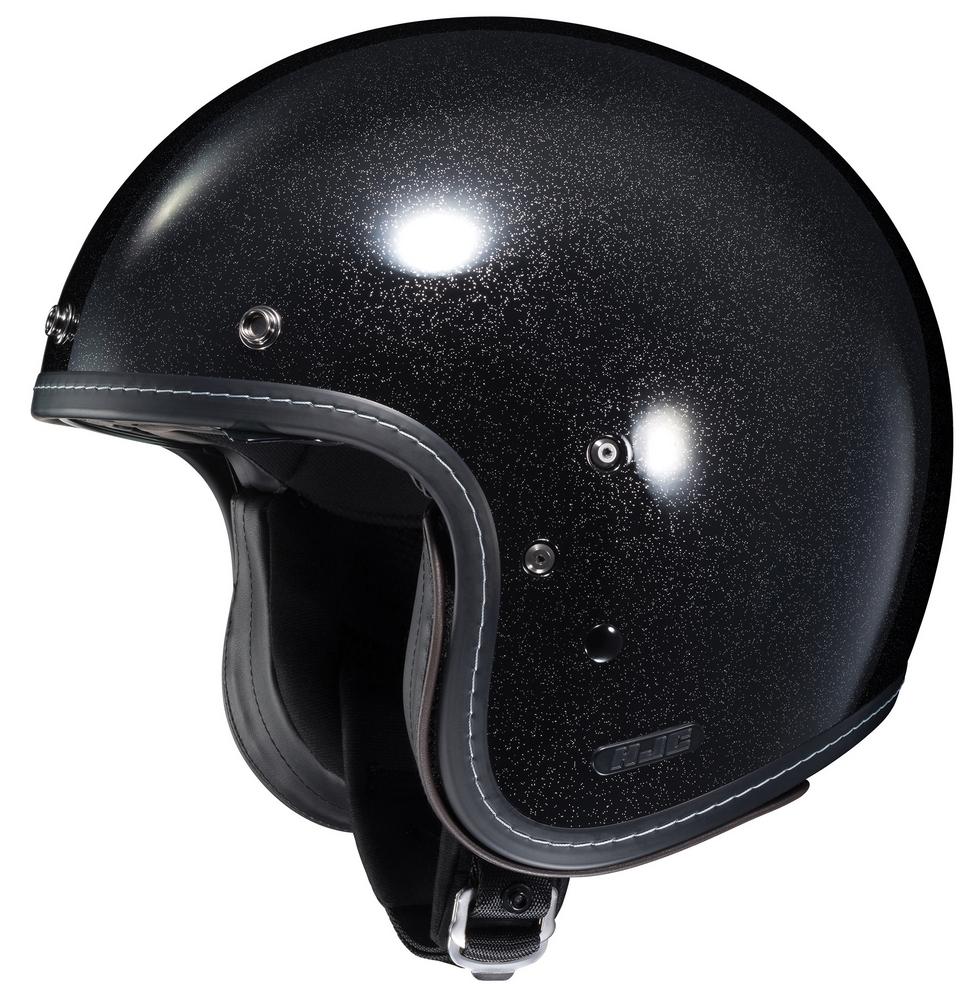 HJC IS-5 Open-Face Motorcycle Helmet - Metal Flake Black