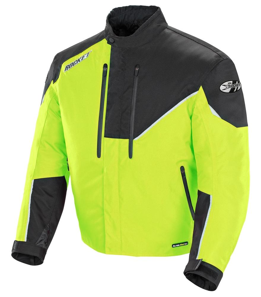 Joe Rocket Alter Ego 4.1 Waterproof Textile/Mesh Jacket - Neon/Black