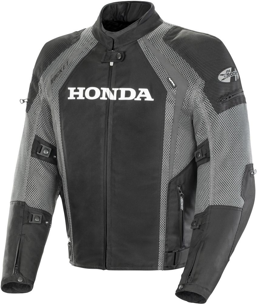 Joe Rocket Honda VFR Mens' Textile/Mesh Motorcycle Jacket - Black/Gunmetal