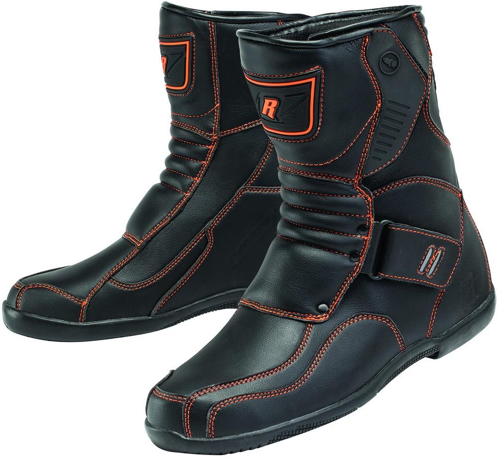 Joe Rocket Mercury - Men's Leather Motorcycle Boot - Black/Orange