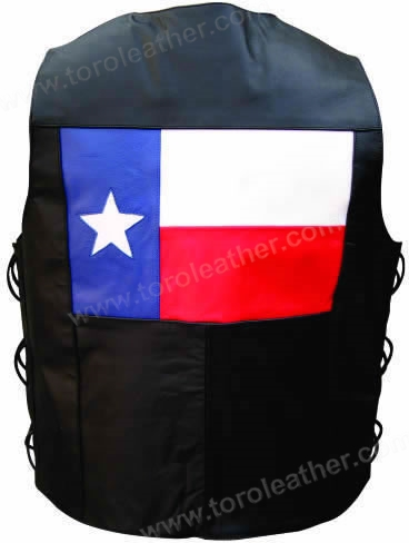 Buffalo Hide 'Texas State Flag' Side Laced Vest