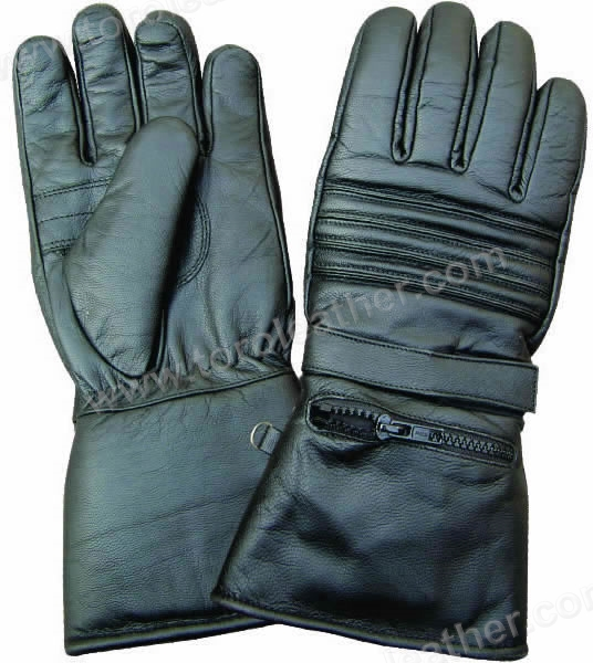 Gauntlet Riding Gloves with Concealed Rain Cover