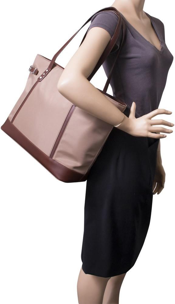 McKlein N-Series ARIA - Ladies' Nylon and Leather Tote