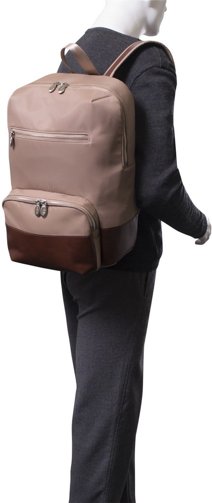 McKlein N-Series BROOKLYN - Nylon and Leather Contour Backpack