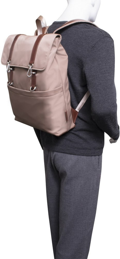 McKlein N-Series ELEMENT - Nylon and Leather Flap-Over Laptop Backpack