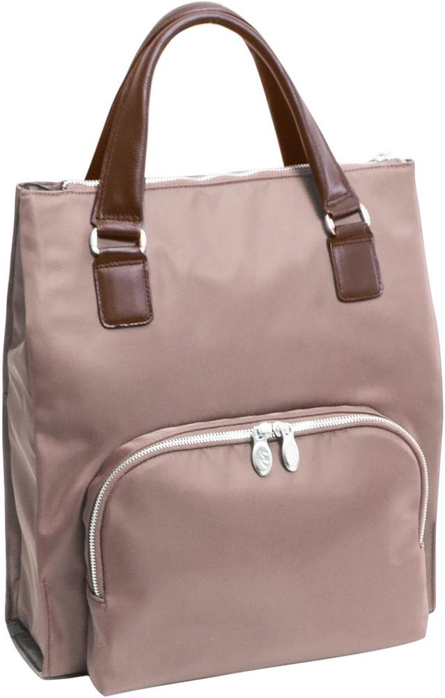 McKlein N-Series SOFIA - Ladies' Nylon and Leather 4-in-1 Backpack Tote - Khaki