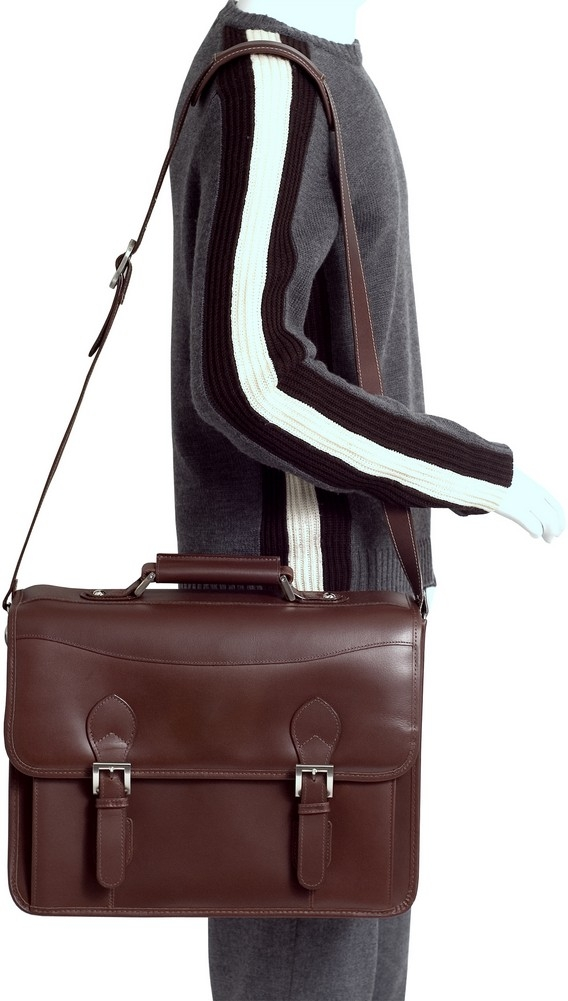McKlein Siamod BELVEDERE - Oil Pull-Up Leather Laptop Case
