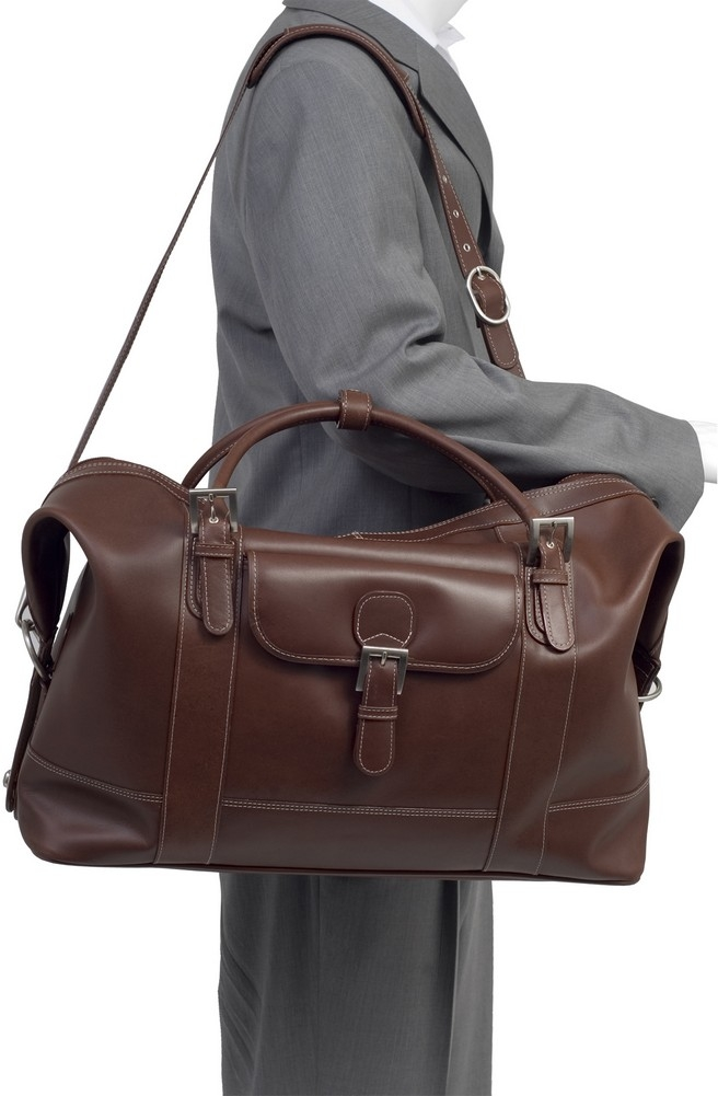 McKlein Siamod AMORE - Oil Pull-Up Leather Duffel Bag