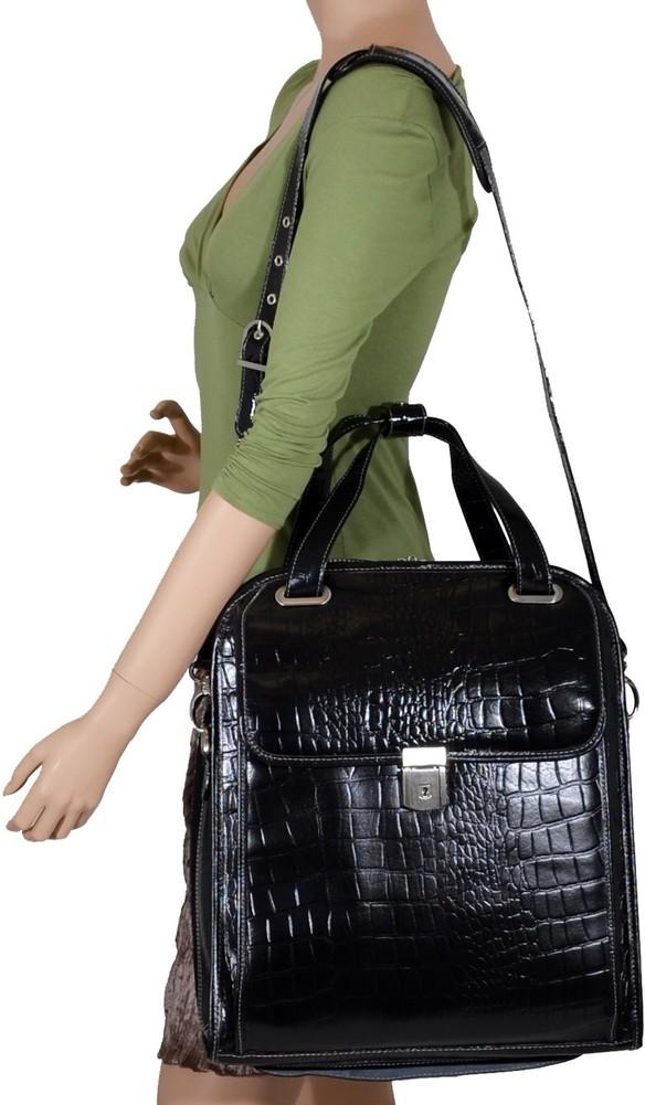 McKlein Siamod NOVEMBRE - Italian Croco Leather Women's Laptop Case