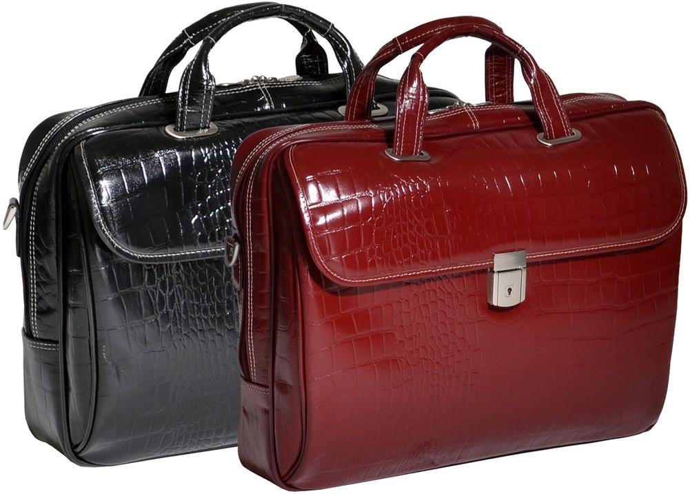 McKlein Siamod IGNOTO - Italian Croco Leather Laptop Case