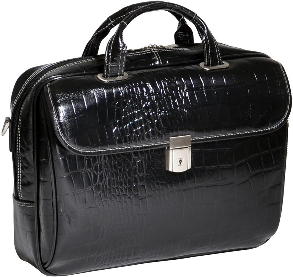 McKlein Siamod SERVANO - Italian Croco Leather Laptop Case