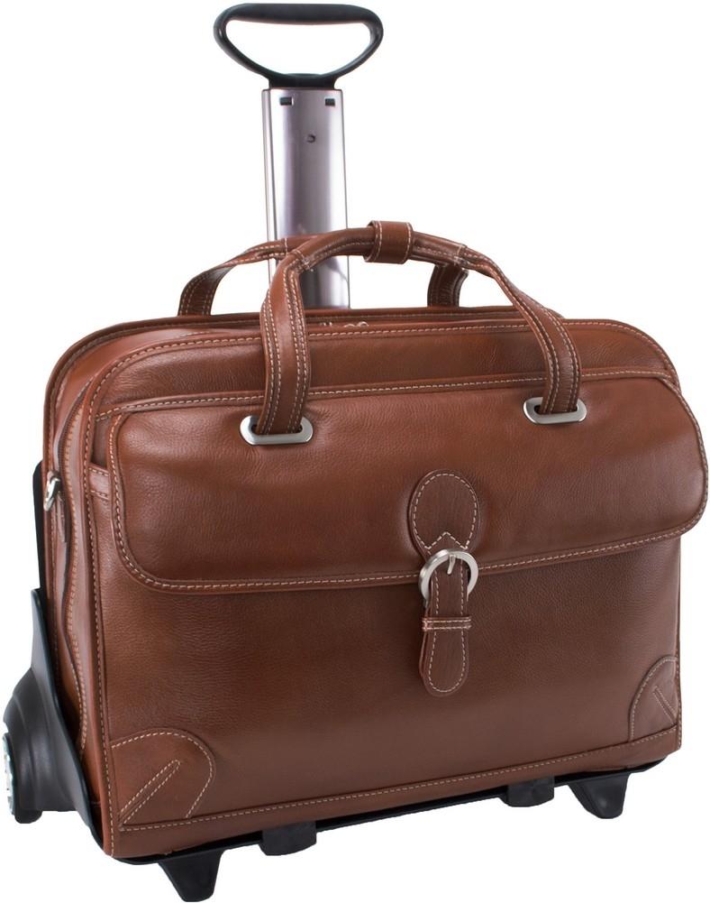 McKlein Siamod CARUGETTO - Napa Cashmere Leather Laptop Case