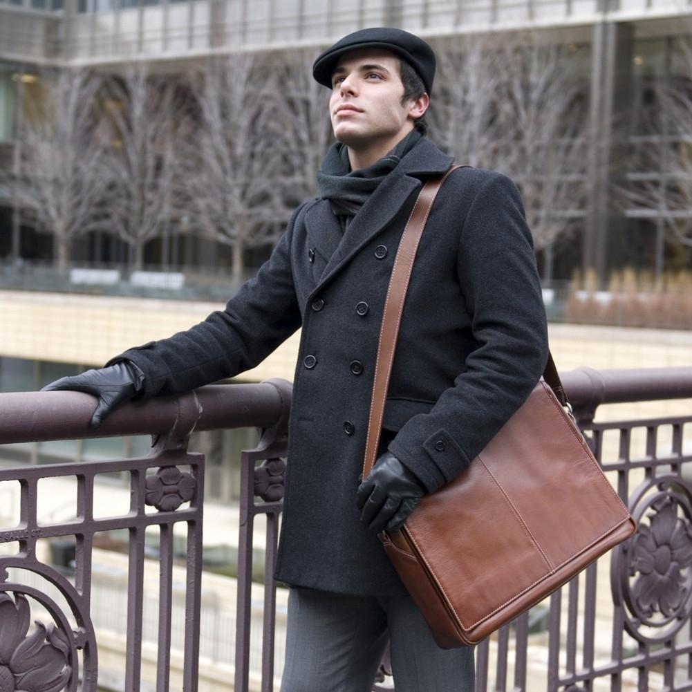 McKlein Siamod SAN FRANCESCO - Napa Cashmere Leather Messenger Bag