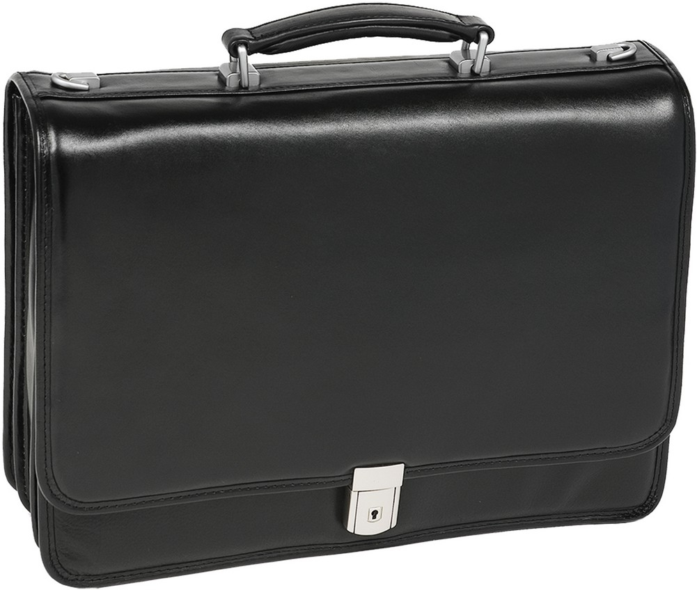 McKlein I-Series RIVER NORTH - Full Grain Cashmere Napa Leather Laptop Case
