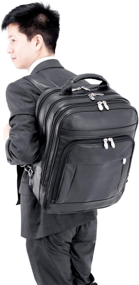 McKlein I-Series WICKER PARK - Full Grain Cashmere Napa Leather Laptop Case
