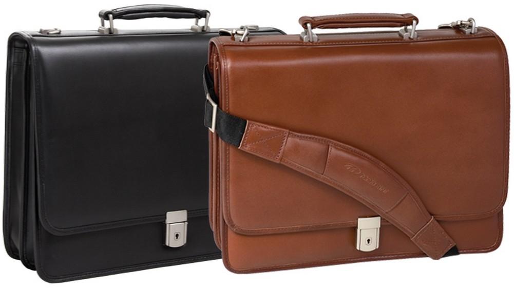 McKlein L-Series LEXINGTON - Full Grain Oil Tanned Cowhide Leather Laptop Case