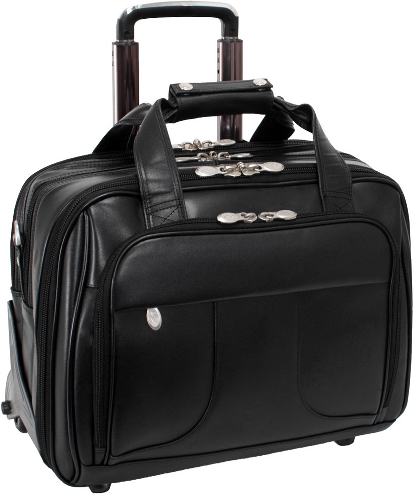 McKlein R-Series CHICAGO - Full Grain Oil Tanned Cowhide Leather Laptop Case