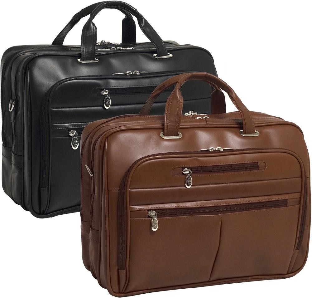 McKlein R-Series ROCKFORD - Full Grain Oil Tanned Cowhide Leather Laptop Case
