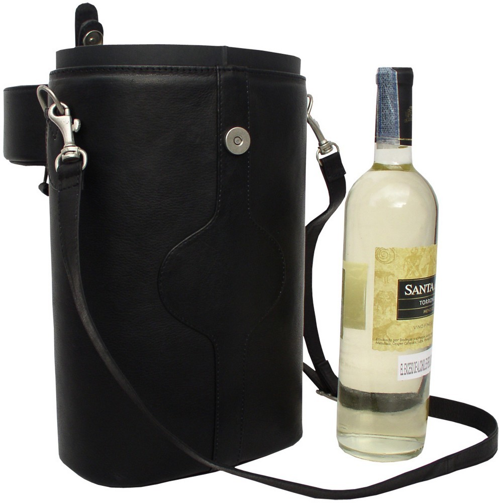 Leather Wine Carrier >> Piel Leather: Double Deluxe Wine Carrier