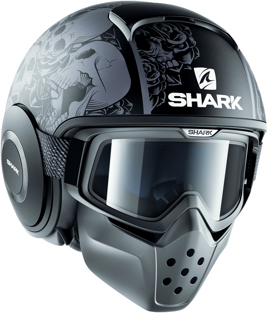 shark metro division drak bt ready street helmet gloss black large 3599181779715 ebay. Black Bedroom Furniture Sets. Home Design Ideas