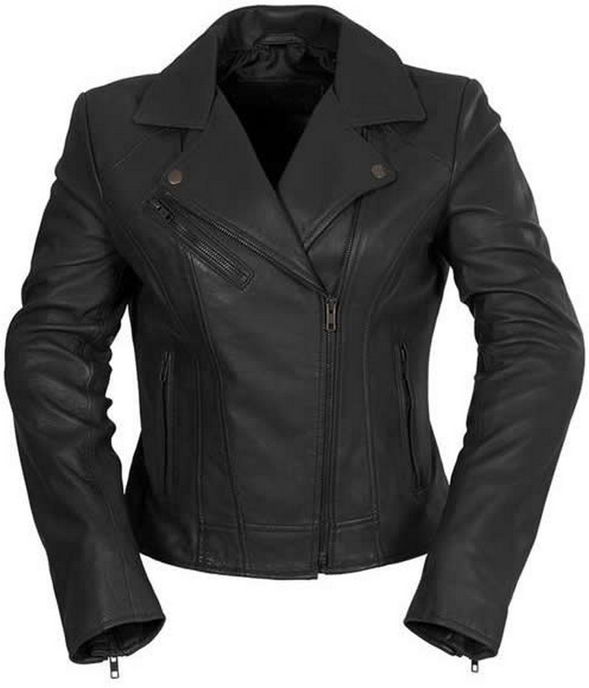 Whet-Blu BETSY - Womens' Motorcycle-Style Leather Jacket