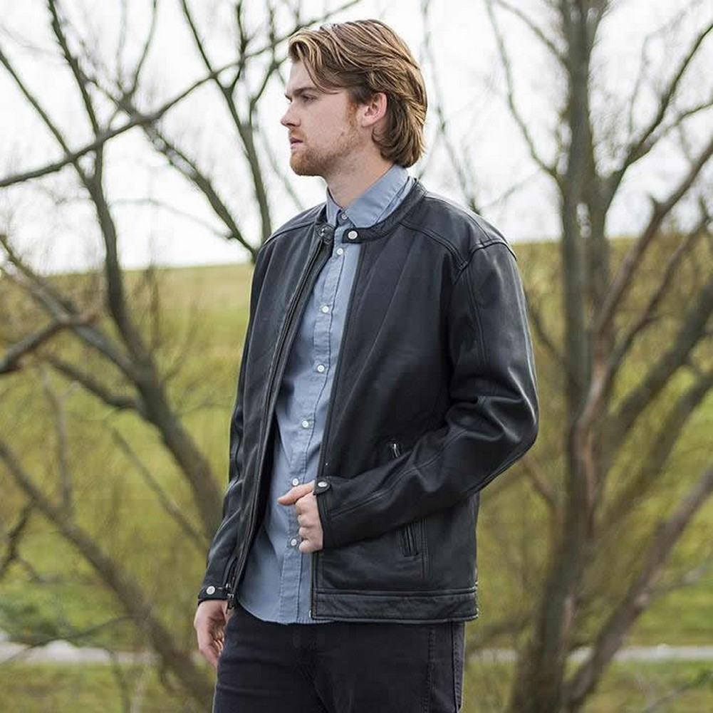 Whet-Blu ICONOCLAST - Mens' Clean-Cut Casual Leather Jacket - Black