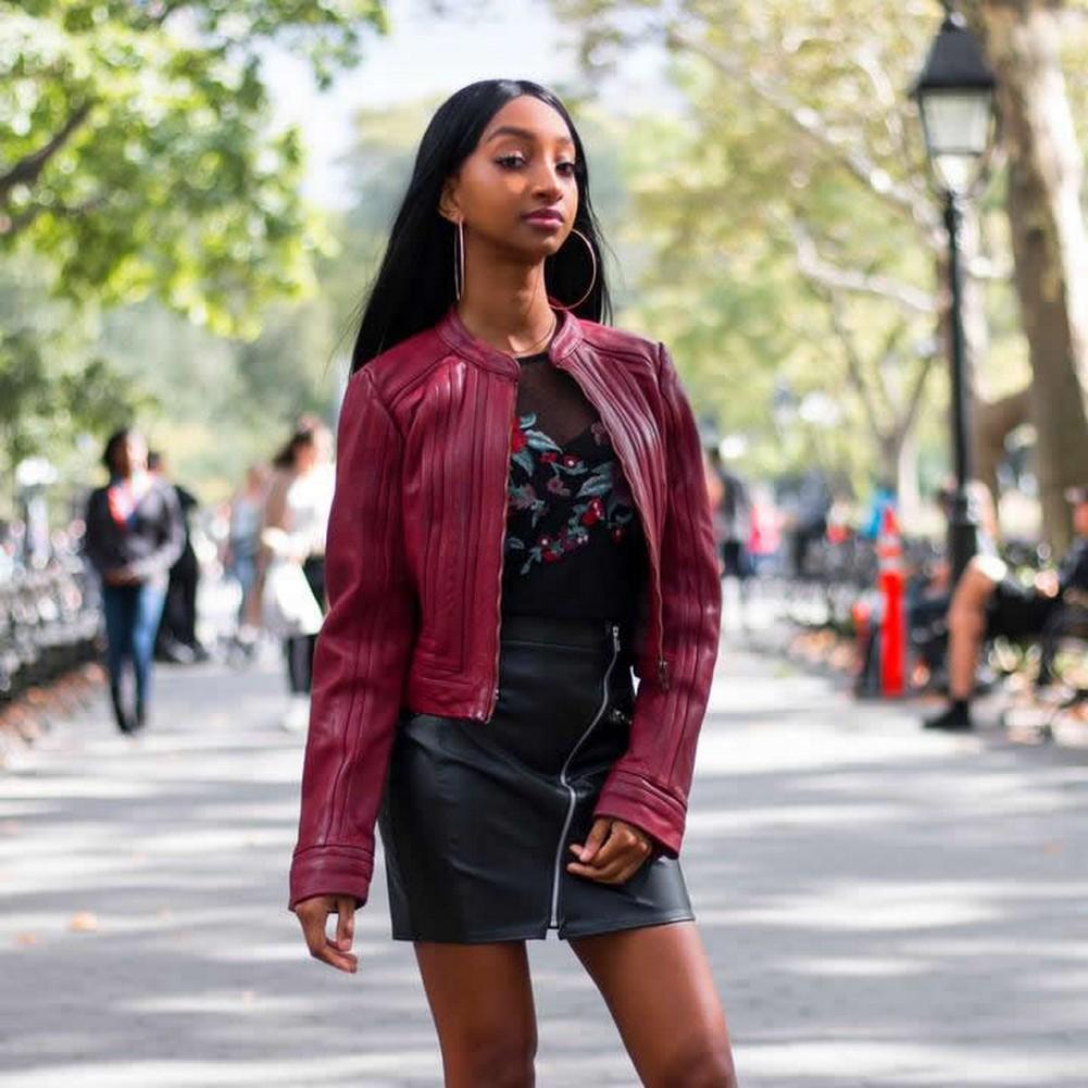 Whet-Blu PIXIE - Womens' Leather Fashion Jacket - Oxblood