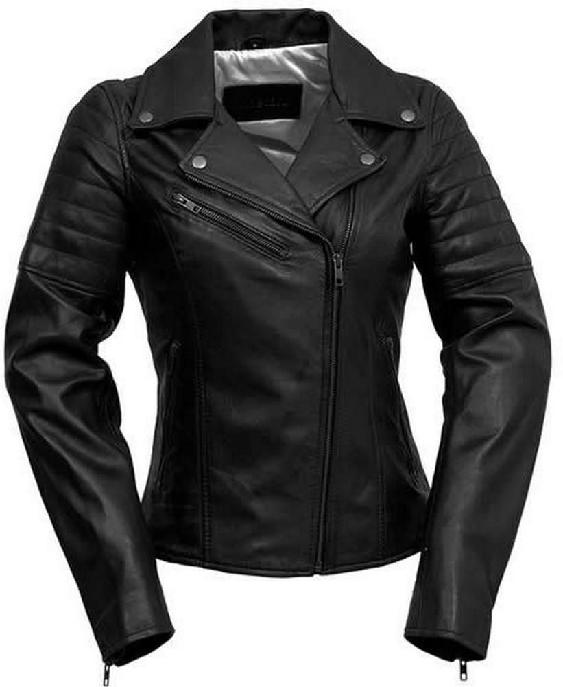 Whet-Blu PRINCESS - Womens' Leather Slim-Fit Motorcycle Style Jacket