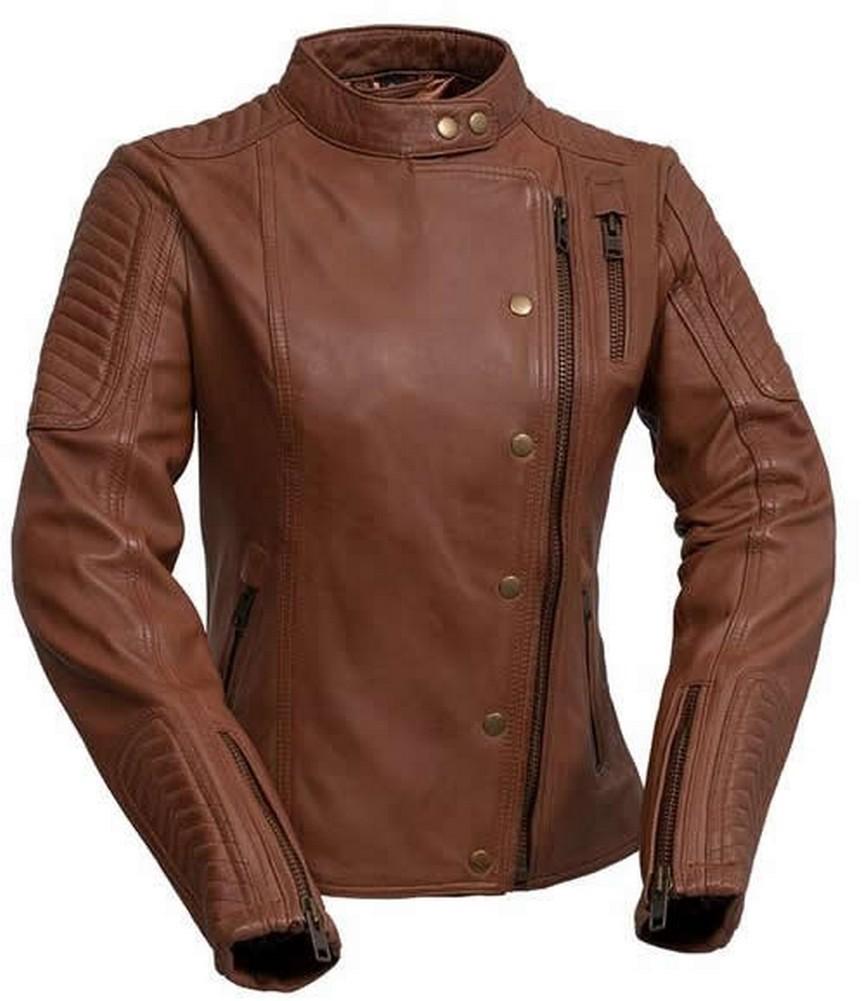 Whet-Blu Zena Moto Leather Jacket-Black-2XL